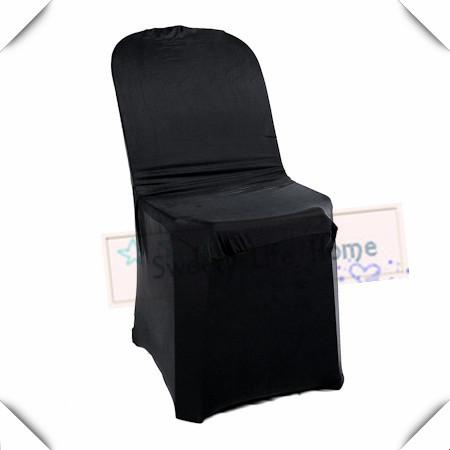Cheap price Free shipping 50pcs Universal Chair Covers Black Strech Banquet Chair seats For Plastic Outdoor Chair in Banquet party