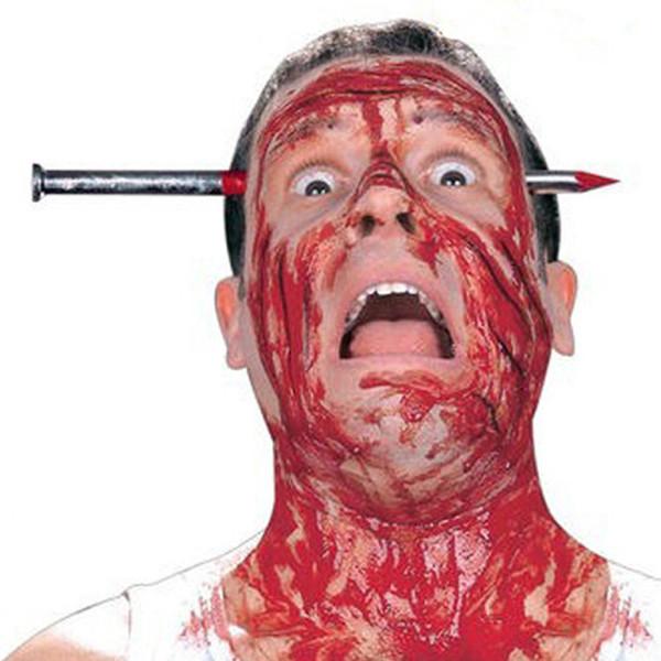 Halloween Horror Props Tease People Toys Regalo de Halloween Creativo Nail knife Penetración Head Bloody Festival Productos