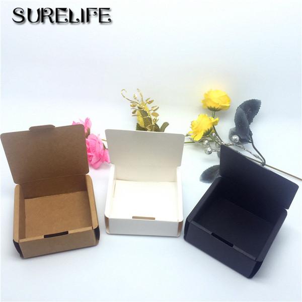 100 stücke Günstige Kraft geschenk verpackung karton papierkasten, kleine natürliche handgemachte seife kraft handwerk box, kraft karton papierkasten