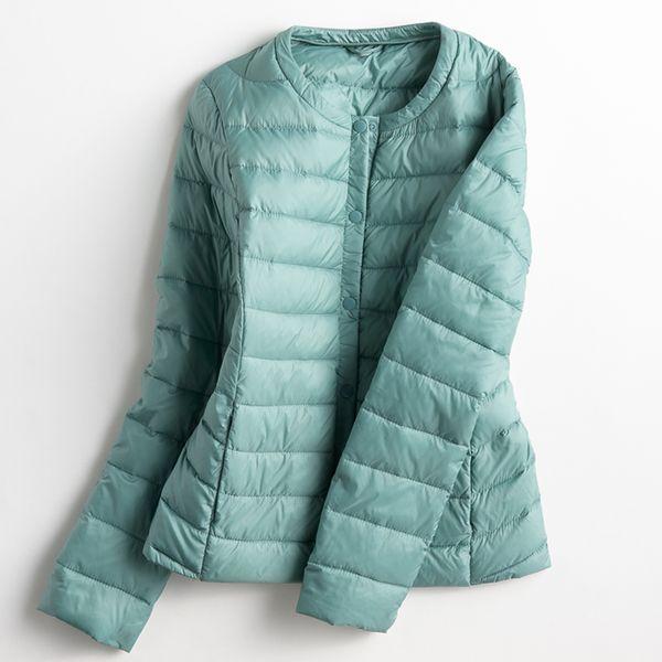 Women Ultra Light Down Jacket Autumn Winter Warm White Duck Down Lightweight Parkas Outwear Ladies Thin Slim Short Coat AB428