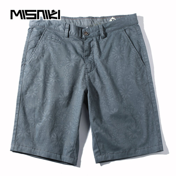 MISNIKI 2018 Solid Casual Men's Shorts Summer Mens Beach Shorts Cotton Male Homme