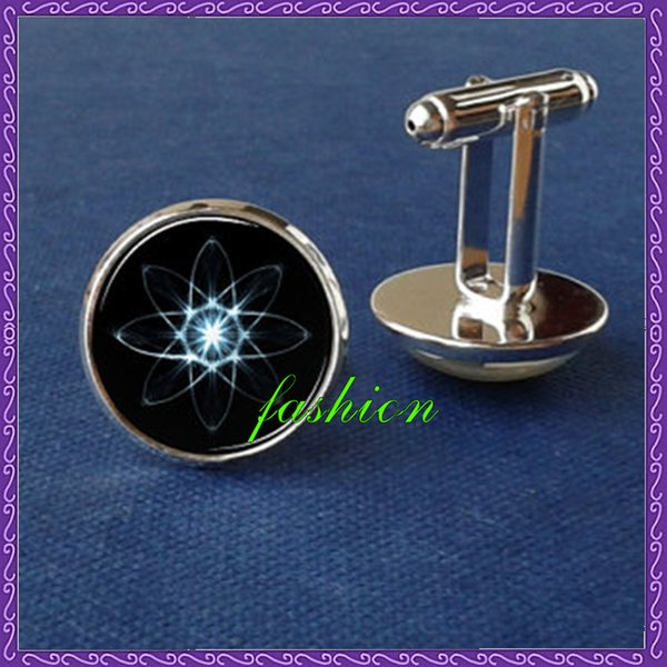 Atom cufflinks, quantum physics cufflinks, science cufflinks, physics, glass jewelry, picture cuff link, man gift, chemistry