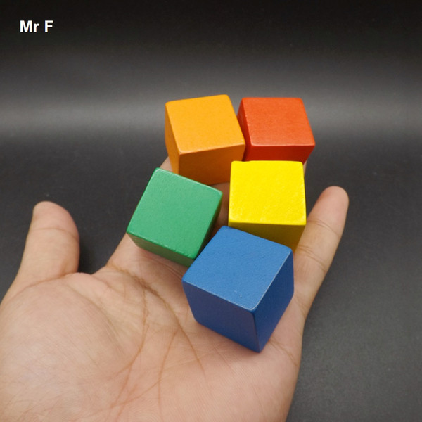 Fun 2.5cm Wooden Cube 100 pcs Colorful Tumbling Game Blocks Stack Up Early Head Start Training Toys Kids Gifts