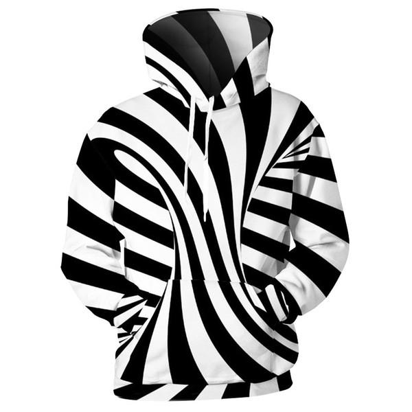 Newest Fashion Spatial Zebra Stripe Funny 3d Print Hoodies Fashion Clothing Women Men Sweatshirt Hoodies Casual Pullovers K54