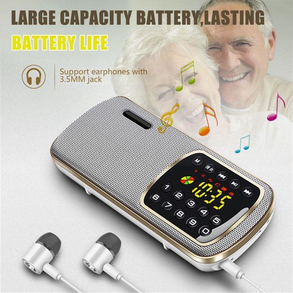 Neue Ankunft 1pc Portable Stereo FM Radio Hohe Qualität FM Radio Mini Lautsprecher mit LED HD Display / Beleuchtung Funktion