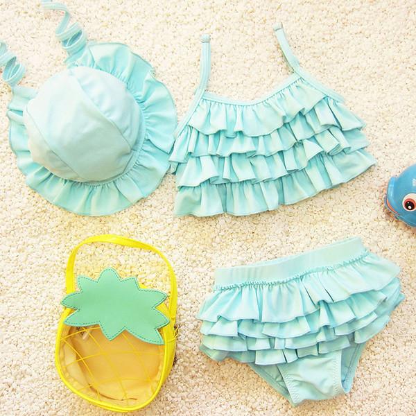 Summer Lovely Cute Beachwear Girls traje de baño para niños niños de dos piezas tankini trajes niñas traje de baño trajes de baño