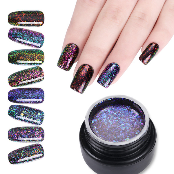 UR SUGAR 5ml Chameleon Gel Nail Polish Starry Holographic Glitter Gel Varnish Soak Off UV Varnish Nail Art Lacquer UV LED