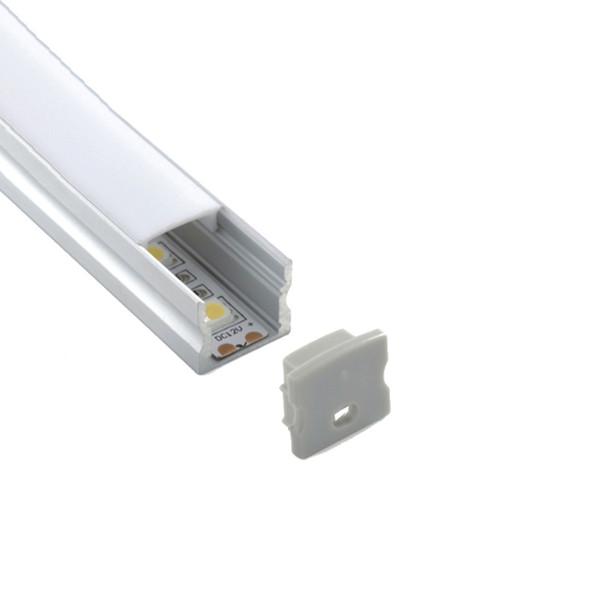 300 x 2 м наборы / лот поверхностного монтажа алюминиевый профиль led U тип светодиодный алюминиевый корпус для настенных встроенных светильников