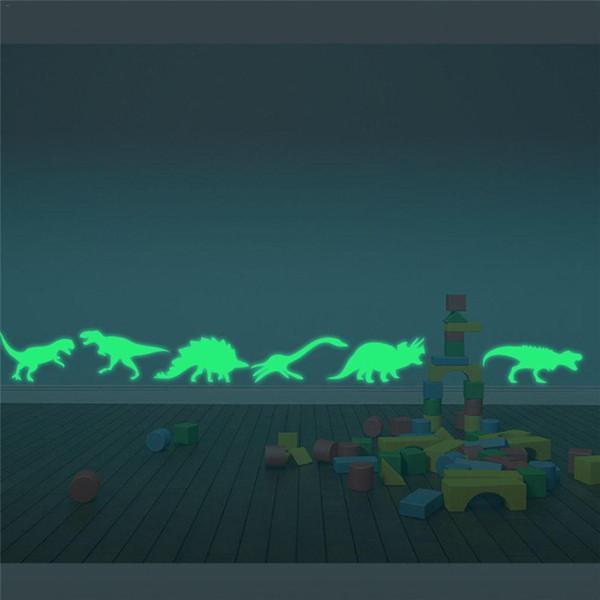 New Luminous Wall Stickers Creative Luminous Cartoon Dinosaur Decorative Wall Stickers For Children Bedroom Fluorescent Stickers
