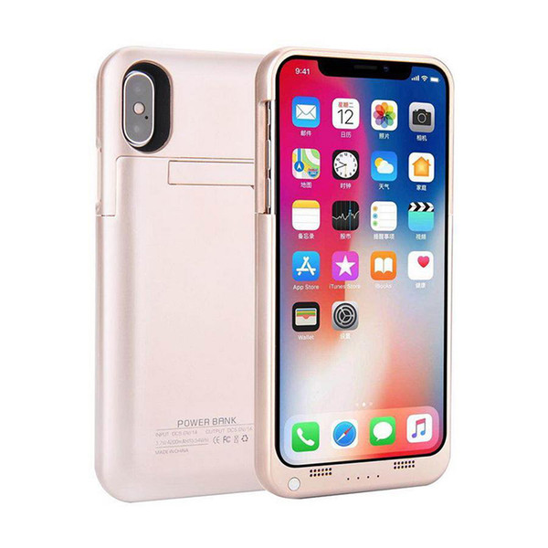 """New For iphone X External Battery Backup Power Bank Charger Cover Case Powerbank case for iPhone 7 8 Plus 4.7"""" 5.5"""" inch MOQ 50pcs"""