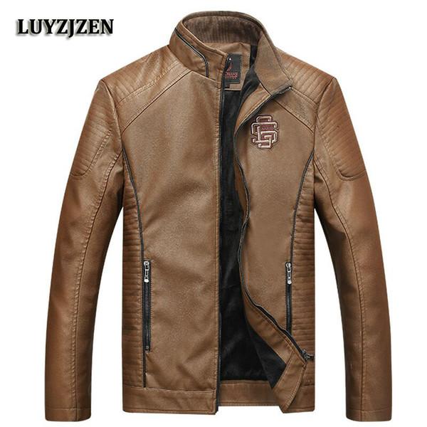Men's Fashion Jackets Collar Slim Biker Motorcycle Male Classic Jacket Winter Thick Coats for Men Top Quality Plus Size 5XL K125
