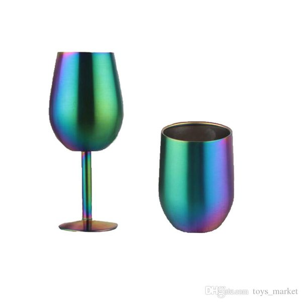 9oz Egg cup 10 oz Wine Cups Wine glasses 9oz Stainless steel Tumbler Metal Goblet With Lid
