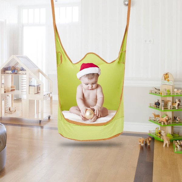 Admirable 2019 Kids Pod Swing Chair Indoor Outdoor Soft Foldable Double Strap Hanging Hammock Chair Swing Single Seat From Summerpang 49 53 Dhgate Com Theyellowbook Wood Chair Design Ideas Theyellowbookinfo
