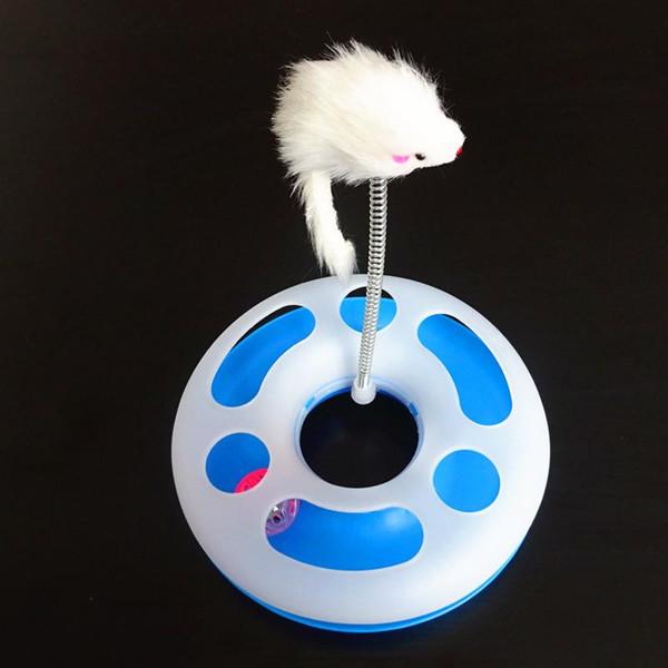 Brinquedos do gato de Forma Redonda Gato Engraçado Plataforma Giratória Brinquedo Do Gato de Estimação Bola Com Rato Bonito Animais de Estimação Brinquedos Por Atacado Novo Estilo Para Pequeno Brinquedo Do Animal de Estimação