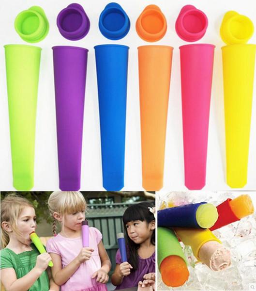 Silikon-Popsicle-Form-Lutschbonbon-Pop-Eiscreme-Form-Pop-Form mit Deckel-bunten Eiscreme-Werkzeugen 6 Farben YW787