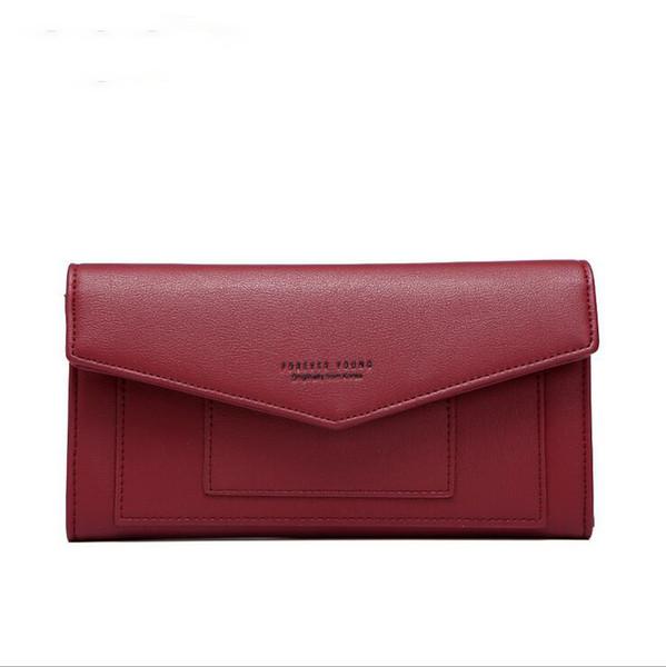 Women's wallet Korean fashion multi-function PU leather independent brand design zipper clutch bag chain large capacity shoulder bag