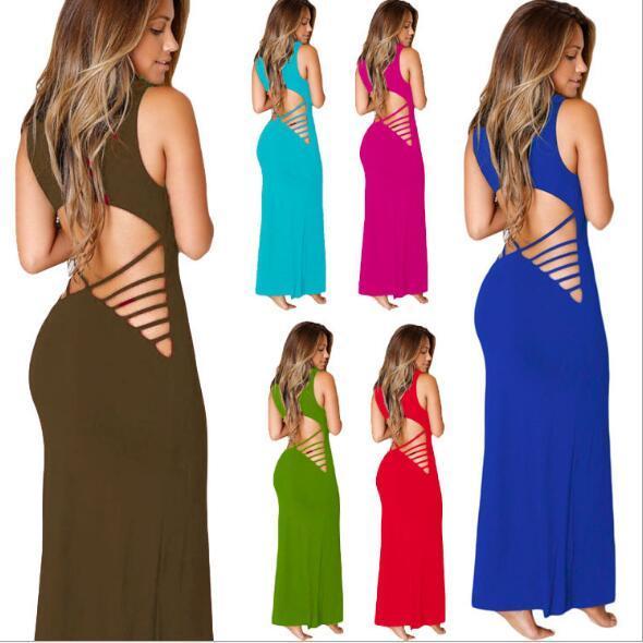 Women's dress hot Bundle Sexy Nightclub Party Evening Dresses lady's Casual vest dress 2018 summer long dresses