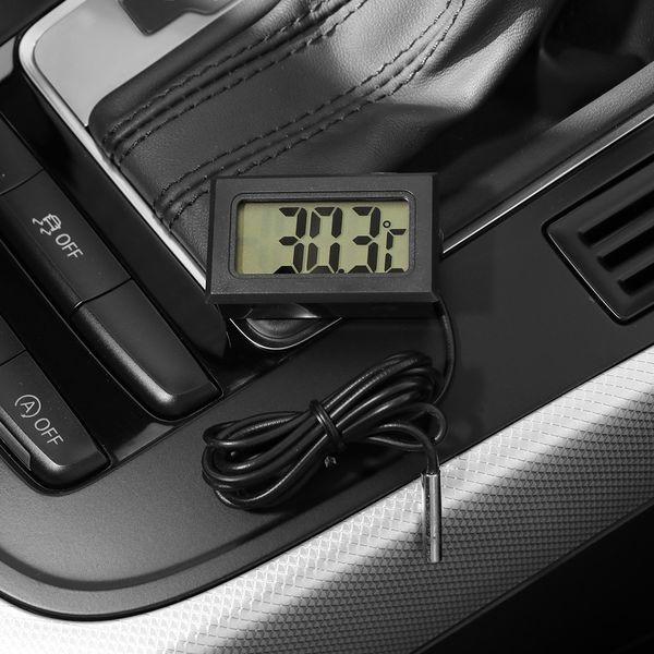 Термометр автомобилей с водонепроницаемым датчиком уровня -50 ~ 110C LCD Цифровой термометр для температуры Auto Home Fish Tank воды