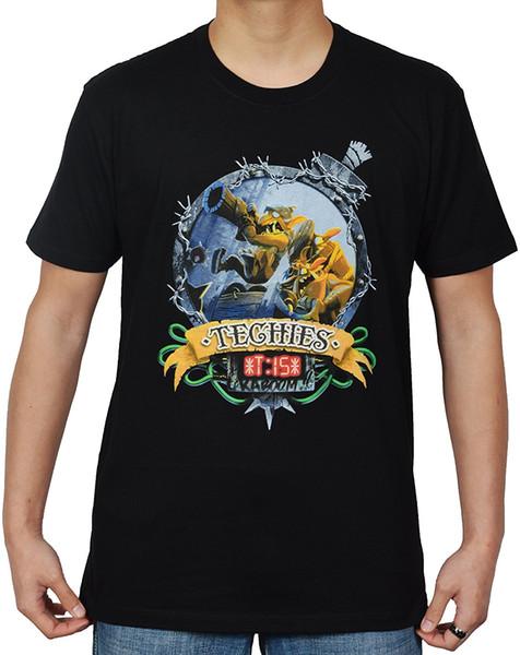 Dota 2 Techies Kaboom! Gömlek Yaz Kısa Kollu T Shirt Tops S ~ 3xl Büyük Boy Pamuk Tees Ücretsiz Kargo T Shirt