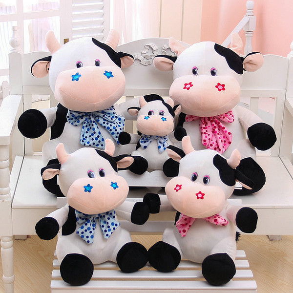 big size animals toys kids toys milk cow cloth doll 23/35cm drop shipping cartoon sitting Cattle plush toys