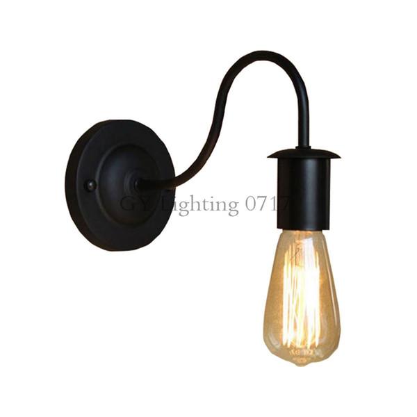 American Loft Industrial Wall Lamp Vintage Bedside Wall Light Metal bent arm wholesale price sconces 110V/220V promotion fixture