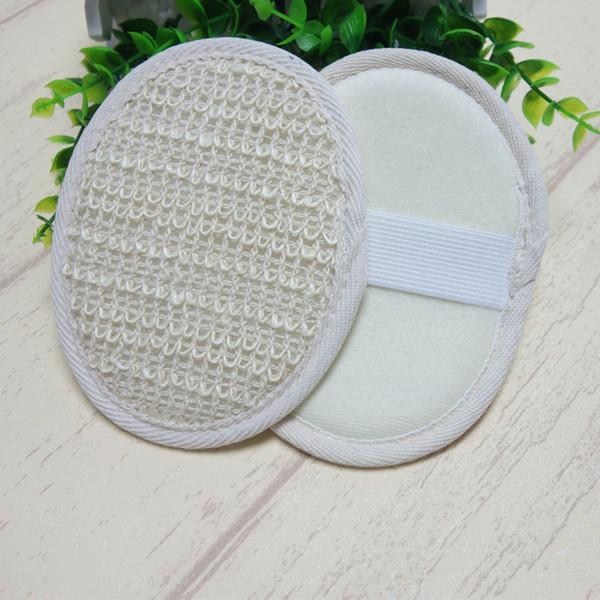 10 * 14 cm Hotel algodão cânhamo Banho esfregar Sisal Bath esponja de limpeza sisal scurbber esponja