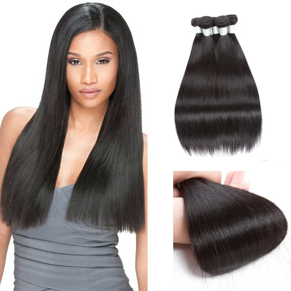 BellQueen Hair Straight Hair Products 8A Chinese Brazilian Malaysian Indian Mongolian Human Hair extensions unprocessed Weaves