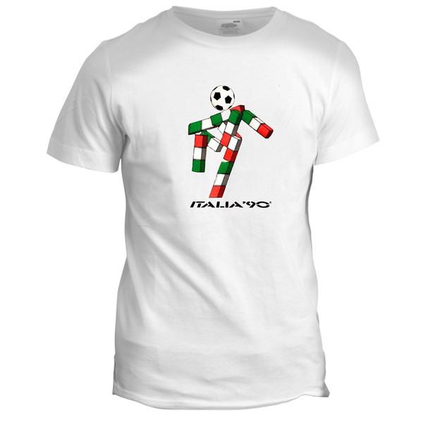 Italia 90 Futbol Dünya Kupası Maskot İtalya Tumblr Futbol Mens Retro 2 T Gömlek Komik ücretsiz kargo Unisex Rahat hediye