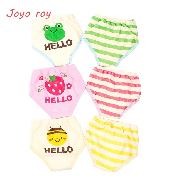 2pc/set 6 layers Baby Training Pants Cartoon Towel Coon Diaper For Boys Girls Infant Washable Cartoon Stripe Reusable Nappy