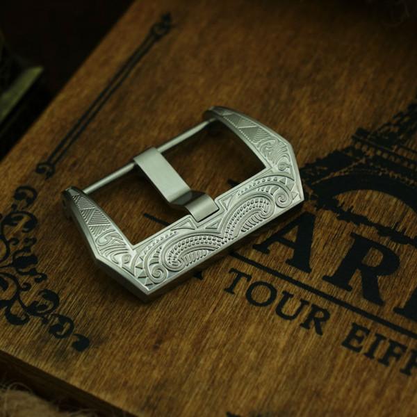 MAIKES Acier Inoxydable 316L Vis Dans Montre Bracelet Fermoir 22mm 24mm 26mm Bracelet Boucle pour pam111