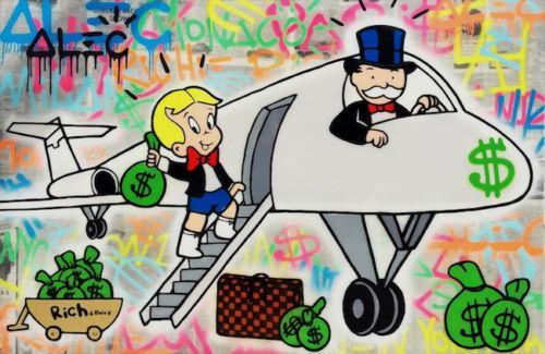 Alec Monopolio Dipinto A Mano HD Stampa Graffiti Pop Art pittura a olio Aereo, di alta Qualità di Arte Della Parete Home Decor Su Tela Multi Taglie g231