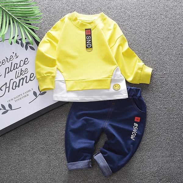 2018 New Spring Autumn Children Boys Girl Clothes Toddler Tracksuits T-Shirt Pants 2pcs Sets Kids Cotton Snowflake Pattern Suits
