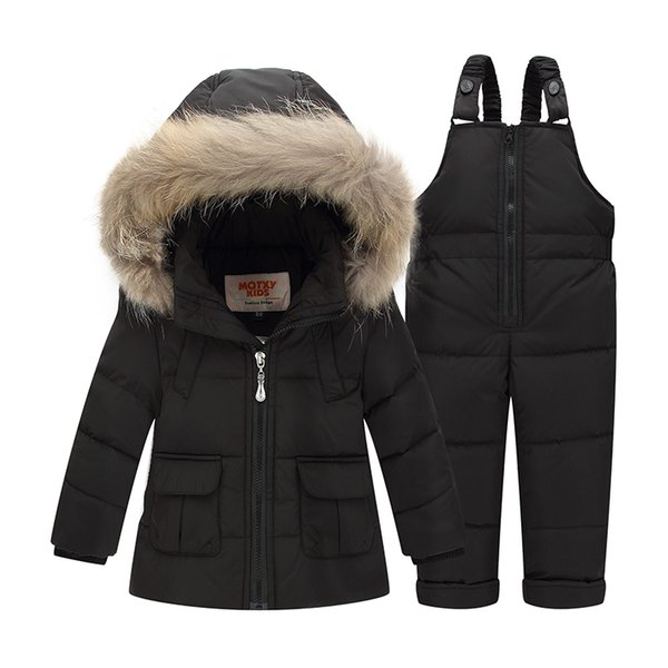 Boys Ski Suit Girl Down Jacket Children Winter Clothing Set Coat + Jumpsuit Set 1-3 Years Kids Clothes For Baby Boy/Baby Girl
