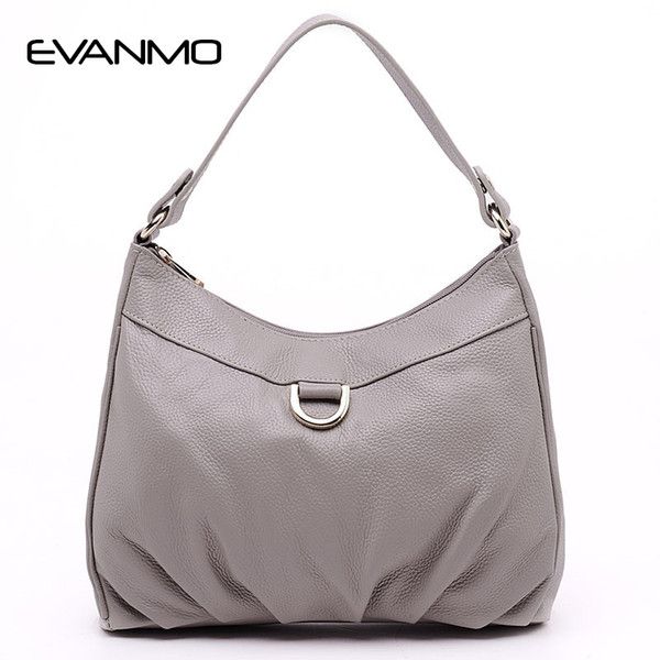 Genuine Leather Women Shoulder Bag Casual Leather Tote Shoulder Bag Bolsas Femininas Large Capacity Daily Women Bags E