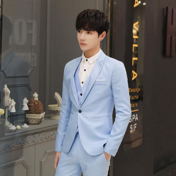 EINAUDI vêtements de style occidental de style, bleu robe de mariée de marque haut de gamme marié, manteau hommes d'affaires décontractée. (pièce unique)