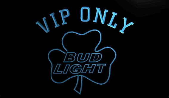 LS781-b-VIP-Dnly-Bud-Shamrock-Neon-Light-Sign Decor Free Shipping Dropshipping Wholesale 8 colors to choose