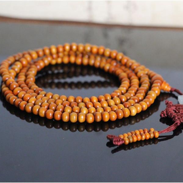 Natural Yellow Sandalwood Rosary Beads Bracelet For Women And Men Tibetan Buddhism Prayer Beads Mala Jewelry