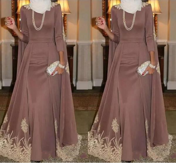 Long Sleeve Prom Dresses Vestido longo de festa Lace Applique Floor Length Long Sleeve Evening Dress Indian Women Saree Prom Gowns Party