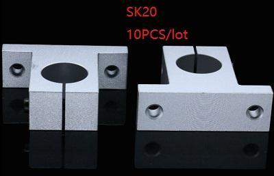 10 teile / los SK20 SH20A 20mm lineare schienenhalterung lineare schienenwellenlager linearschienenstange unterstützung für cnc router 3d drucker teile