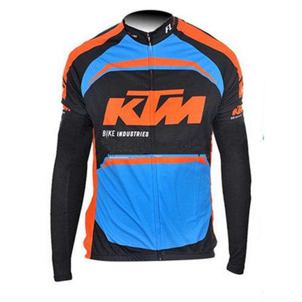 2019 KTM команда Велоспорт с длинными рукавами Джерси Горячие Новые поступления одежда для велосипеда с множественным выбором Простой Мужчины U91106