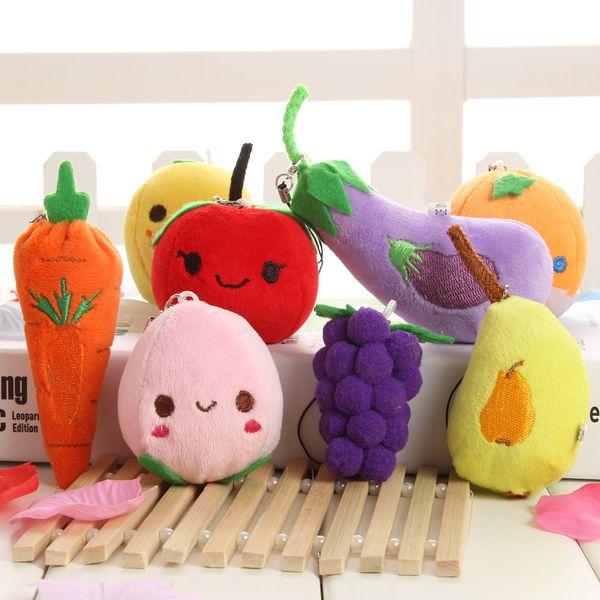 3D Simulative pineapple apple Doll Pendant for baby cradle Best child educational toys gift children fruits vegetables