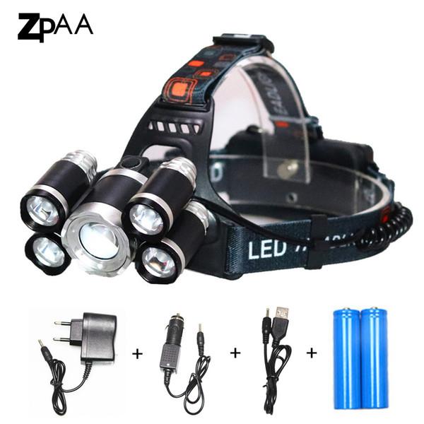 Alta Potência Farol Lanterna T6 LED 15000 Lumen Head Light 18650 Recarregável Farol