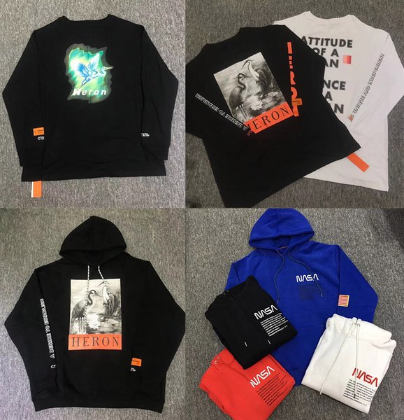2018 designer de mode mens marque NASA hoodies sport sweat à capuche pull de luxe pull Heron Preston Hoodie chaud