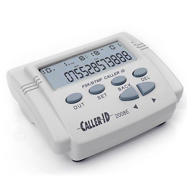 Adattatore telefonico Grigio Bianco FSK / DTMF Telefono ID chiamante Box Telefono cellulare Coming Calls Visualizzazione cronologia + Schermo LCD cavo # S0141