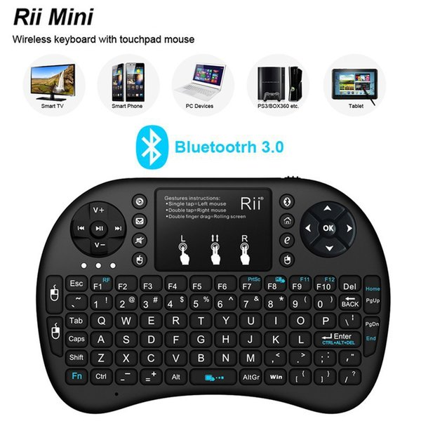 best selling Mini Rii i8 Wireless Keyboard 2.4G English Air Mouse Keyboard Remote Control Touchpad for Smart Android TV Box Notebook Tablet Pc