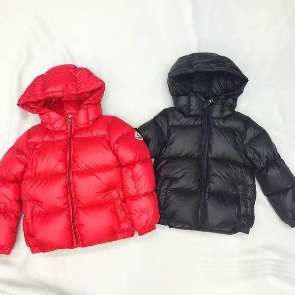 2018 горячая 90% пуховики зима пуховик куртка для девочек мальчиков пальто детская о