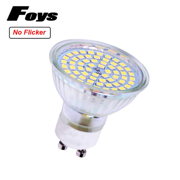 GU10 LED Sportlight No Flicker AC85-265V 3W SMD2835 52LEDS Light Bulbs Home Ceiling Fans Replace 40W Halogen Lamps