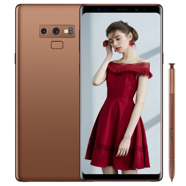 Goophone note9 note 9 smartphones 6.4inch edge screen Android 7.0 dual sim shown 128G ROM 4G LTE cell phones