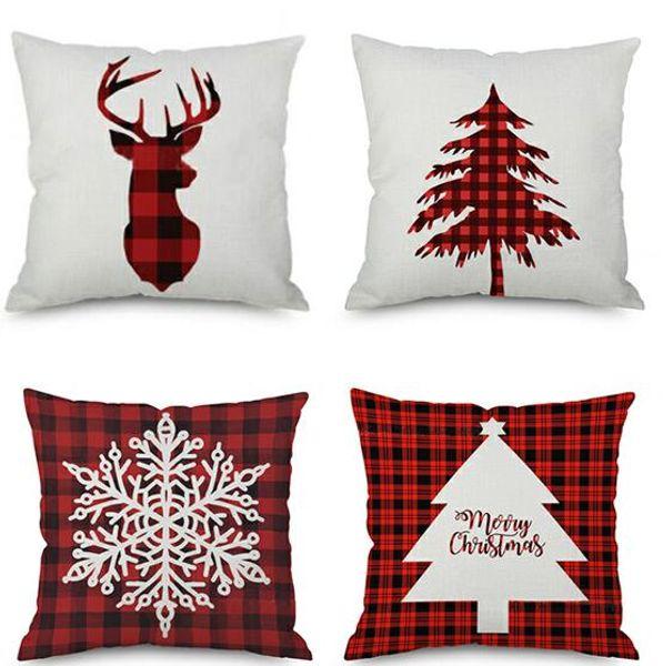 DHL 45X45 cm Funda de Almohada Throw Pillow funda de Almohada de Navidad Funda de Almohada Sofá Del Coche En Casa Decoración Cojín para el hogar