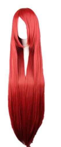 Fei Show Cosplay Wig Red Straight Hair Synthetic Heat Resistant ... cd0ebc01ee47